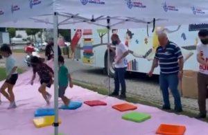 İBB'nin gezici çocuk kütüphanesi AKP'li Belediye tarafından kaldırıldı