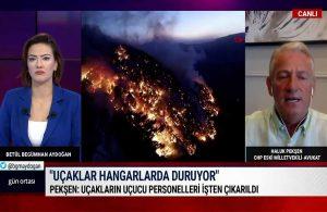 Haluk Pekşen: Orman Bakanı göreve başladıktan sonra THK uçakları sistem dışı bırakıldı