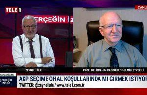 Prof. Dr. İbrahim Kaboğlu: Demokratik toplumu bastırmak için OHAL uzatılmak isteniyor