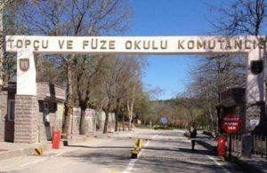 Polatlı'daki Topçu ve Füze Okulu Komutanlığında yangın çıkarmaya çalışan kişi yakalandı