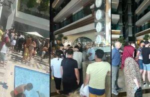 Yer ayırttıkları otelde konaklayamayan 50 kişi, oteli bastı!
