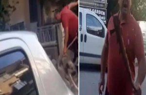 Sokak köpeğini besleyen hayvansevere sopalı tehdit!