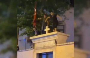 Ermeni Kilisesi'nin kapısında saygısız 'eğlence'! 3 kişi serbest bırakıldı