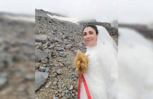 Dağcı Sevgül Eraslan, şiddete dikkat çekmek için Ağrı Dağı ile evlendi
