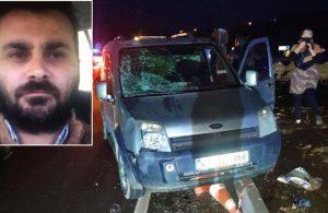 Kaza yerinde ölçüm yapan polis şehit oldu