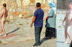 Çırılçıplak sokağa çıkıp yürüdü, yakınları giydirdi