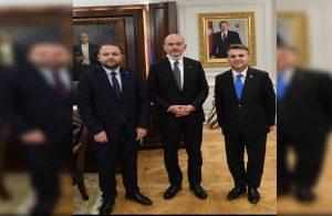 Korkmaz Karaca'dan Süleyman Soylu'ya ziyaret