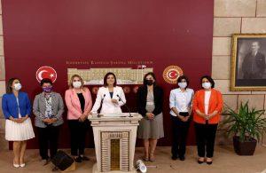 CHP'li kadın milletvekilleri İstanbul Sözleşmesi'nin feshedilmesine tepki gösterdi