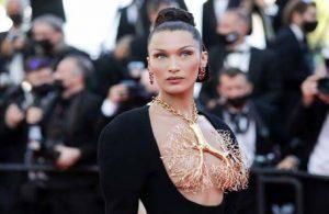 Cannes Film Festivalinde gündem Bella Hadid'in kolyesi