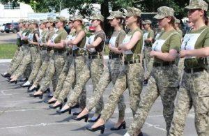 Ukrayna'nın topuklu askerlerine tepki yağdı