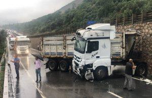D-100 Karayolu'nda kaza: Ankara istikameti trafiğe kapandı