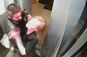 Kan revan içinde birbirlerini dövdüler sonra asansörü temizlediler