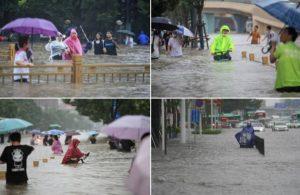 Çin'de 'bin yılın en şiddetli yağmuru': 12 kişi öldü