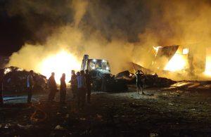 Elazığ'da geri dönüşüm tesisinde yangın