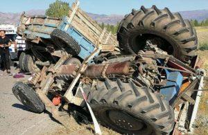 Tarım işçilerini taşıyan traktör ile kamyon çarpıştı: Ölü ve yaralılar var