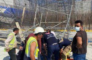 İSKİ inşaatında iskele devrildi: 3 yaralı