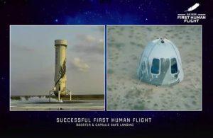 11 dakikalık tarihi uçuş: Jeff Bezoss uzaya gitti geldi