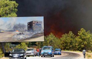 Antalya'da büyük yangın: Yerleşim yerlerine sıçradı