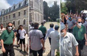 Boğaziçi Üniversitesi'ne vekaleten atanan Naci İnci'yi öğrenciler böyle kaçırmıştı: Naci kaç kaç kaç öğrenciler geliyor