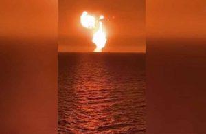 Hazar Denizinde patlama