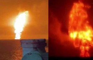Hazar Denizi'nde 'atom bombası' gibi patlama
