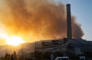 Kemerköy Termik Santrali'nden yangın açıklaması
