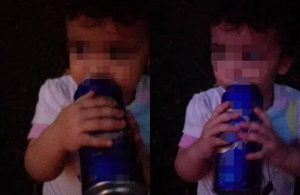 '2 yaşındaki çocuğuna içki içirdi' iddiasına savunma: Şaka amaçlıydı
