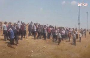 Çiftçiler yolu trafiğe kapattı, 'AK Parti istifa' sloganı attı