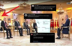 Prompterlı Erdoğan röportajına tepki yağdı
