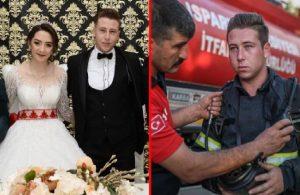 1 hafta önce evlenen itfaiye eri, balayını iptal edip yangın bölgesine gitti