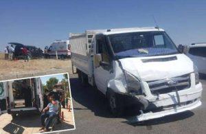 Kahta'da kamyonetle hafif ticari araç çarpıştı: 16 yaralı