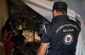 'Şok ev' baskını: 25 göçmen, 1 organizatör yakalandı