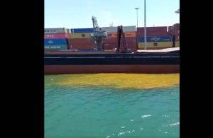 Mersin'de denize paslı su döküldü!