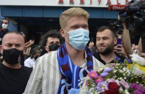 Yeni transfer Andreas Cornelius kente geldi