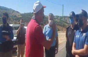 Tunceli'de çıkan yangına müdahale etmek isteyenlere polis engeli!