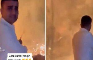 CZN Burak yangın bölgesinde şov yaptı!
