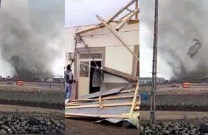 Kars'ta hortum: Evler hasar gördü