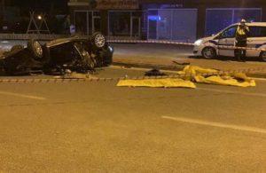 Konya'da otomobil takla attı genç hayatını kaybetti