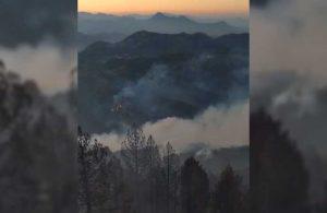 Yangının devam ettiği Köyceğiz'den son görüntüler