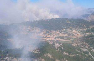 Yangınlarda 12'nci gün: Dumanlar bu kez de Dalaman'dan yükseliyor
