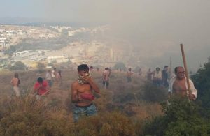 Yangın bölgeleri için gaz ve maske uyarısı