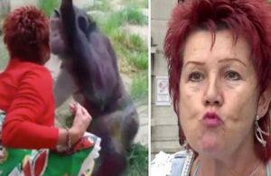 Maymuna aşık olan kadın hayvanat bahçesinden kovuldu