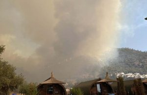 Milas'ta yangın Yeniköy Termik Santrali hattında ilerlemeye devam ediyor