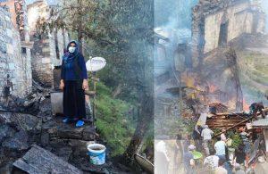 Yusufeli'de yanan 33 ahşap evden geriye bu fotoğraflar kaldı