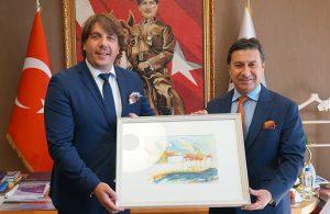 Montenegro heyetinden başkan Aras'a ziyaret