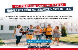 """Başkan Sandal, """"Öğrencilerimiz yalnız değil"""""""
