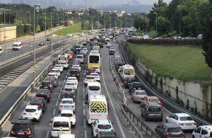 İstanbul'da trafik yoğunluğu yüzde 62'yi buldu!