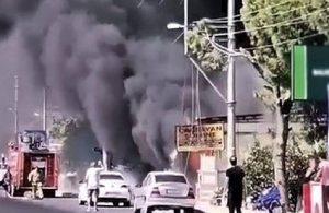 Edremit'te yangın: Baba öldü, oğlu yaralı