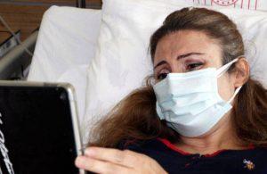 Hamileyken koronavirüse yakalanan Duygu, bebeğini tabletten gördü