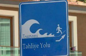 İstanbul'da 'tsunamiden kaçış' tabelaları asılıyor